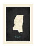 Black Map Mississippi