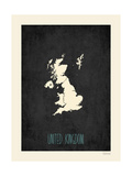 Black Map United Kingdom
