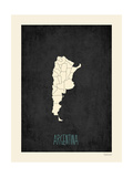 Black Map Argentina