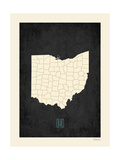 Black Map Ohio