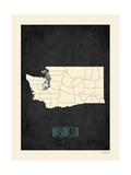 Black Map Washington