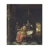 Interior with a Gentleman and Two Ladies Conversing  C1668-70