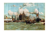 The River Mersey  from the Series 'Western Gateway to the Empire'  1928