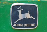 Vintage John Deere Tractor Metal Emblem Photo Poster