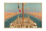 Suez Canal  from the Series 'The Empire's Highway to India'  1928