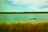 Row Boat near Oak Bluffs in Marthas Vineyard Art Print Poster