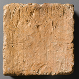Tile with Incised Letters  Ad 55-65