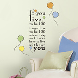 "Winnie the Pooh - ""Live to be 100"" Peel and Stick Wall Decals"