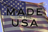 Made In The USA American Flag Motivational Photo Poster