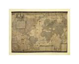 Carte du monde Giclée par Gerardus Mercator