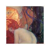 Le poisson rouge (détail) Giclée par Gustav Klimt
