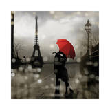 Paris Romance Giclée par Kate Carrigan