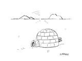 Igloo with air conditioning - Cartoon