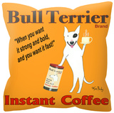 Bull Terrier Instant Coffee Pillow