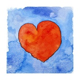 Red Heart on Blue  2011