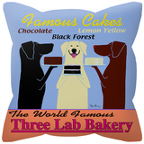 Three Lab Bakery Pillow