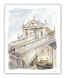 Architectural Watercolor Study I