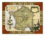 Wine Map of France on CGP Giclée