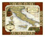 Wine Map of Italy on CGP Giclée