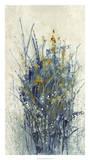 Indigo Floral I Giclée par Tim