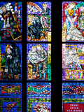 Prague  St Vitus Cathedral  Thunov Chapel  Stained Glass Window  Psalm 126:5  Central Left Section