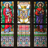 Prague  St Vitus Cathedral  Stained Glass Window  St Bartholomew  St Matthew