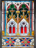 Prague  St Vitus Cathedral  Stained Glass Window  Decorative Motifs