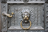 Germany  Cologne  Cologne Cathedral  West Facade  Portal of Mary  Bronze Door  Brass Door Knocker