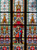 Prague  St Vitus Cathedral  Stained Glass Window  St John the Baptist