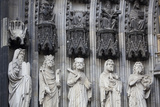 Germany  Cologne  Cologne Cathedral  West Facade  Portal of Mary  Jamb Sculptures