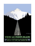 Mont Blanc Swiss Alps Giclée