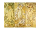 Mucha Iris Lily Rose