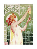 Livemont Absinthe Robette Archival Reproduction d'art