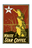 Pure White Star Coffee, Frogs Giclée