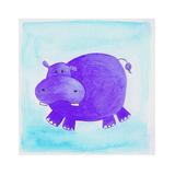 Purple Hippo Giclée