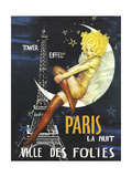 Paris Moon Giclée