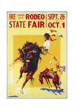 Rodeo State Fair Roan, Two Cowgirls Giclée
