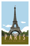 Paris Travel Poster Giclée par Michael Jon Watt