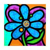 Pinwheel Daisy Blue