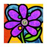 Pinwheel Daisy Purple