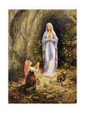 Our Lady of Lourdes Giclée par Edgar Jerins