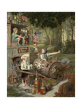 The Barnstormers Giclée par Bob Byerley