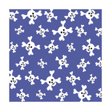 Skull Pattern Blue