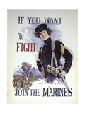 Woman Marines Want to Fight