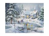 A Fine Winter's Eve Giclée par Nicky Boehme