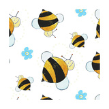 Bees and Flowers Pattern
