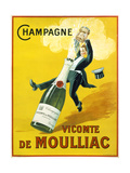 Champagne Vicomte De Moulliac Reproduction d'art