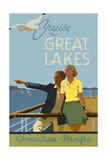 Couple, Cruise the Great Lakes Canadian Pacific Giclée