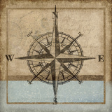 Compass Rose I Reproduction d'art par Karen Williams