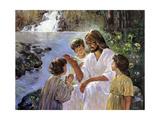 Christ and the Children Giclée par Hal Frenck